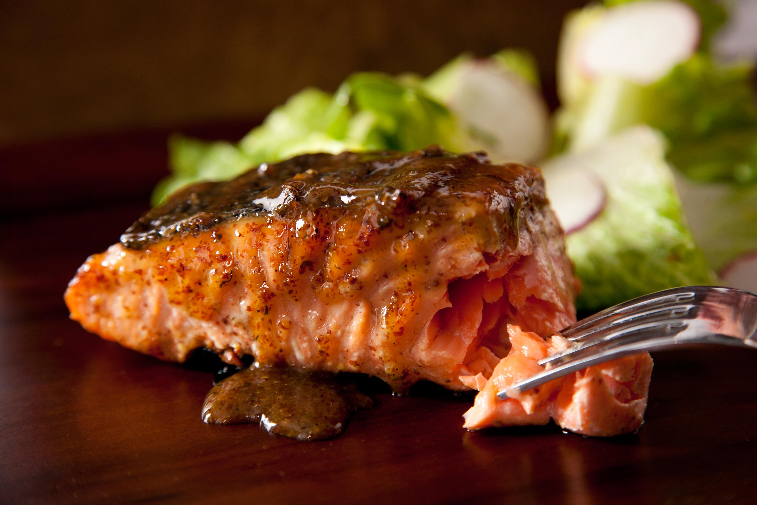 Resep Honey Garlic Salmon Ala ResepBunda !